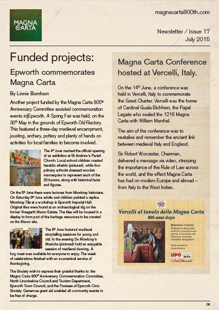 Magna Carta Newsletter